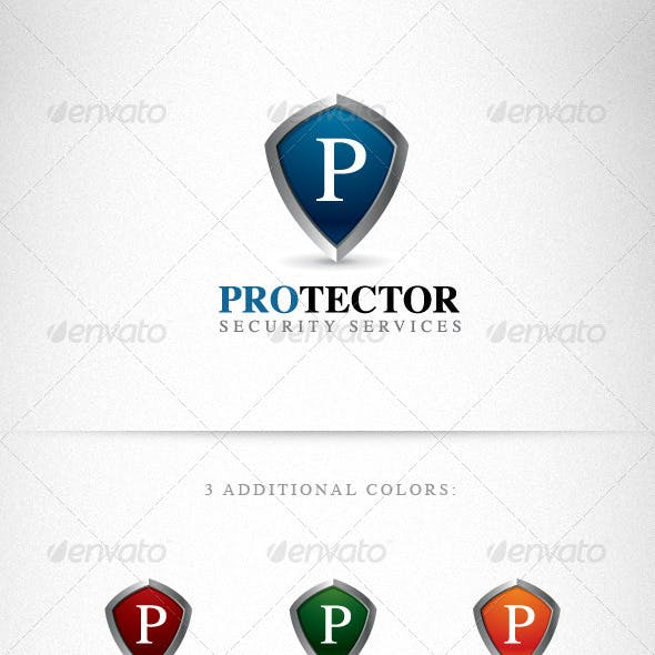 Protector Shield Creative Logo Template