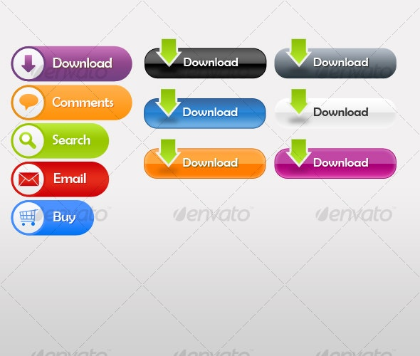 Cool Download Buttons - Buttons Web Elements
