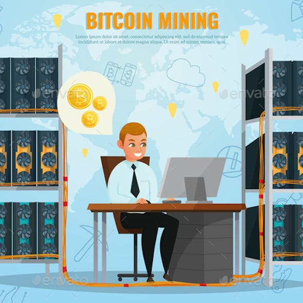 Cryptocurrency Bitcoin Illustration