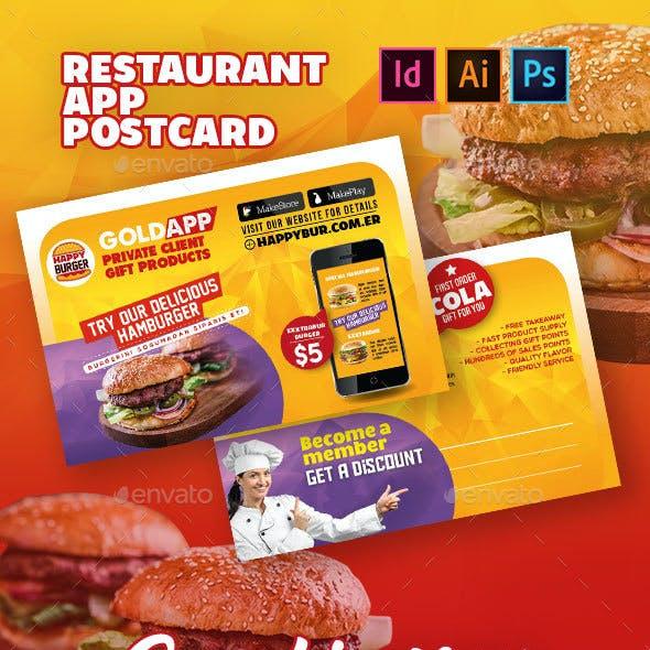 Restaurant App Postcard