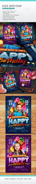 Kids Birthday Invitation - Invitations Cards & Invites