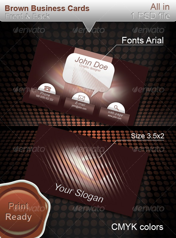 Brown business cards - Corporate Business Cards