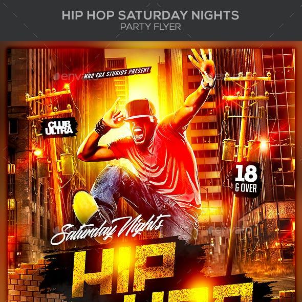 Hip Hop Saturday Nights Party Flyer