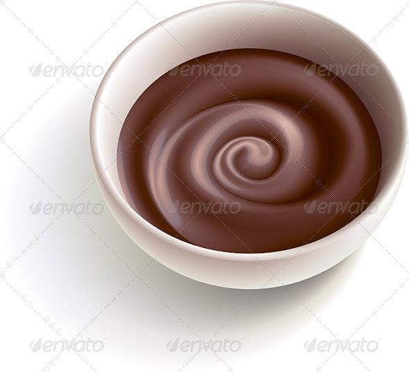 Dark Molten Chocolate - Food Objects