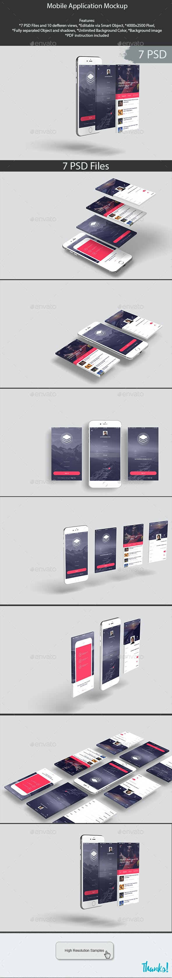 Mobile Application Mockup - Product Mock-Ups Graphics