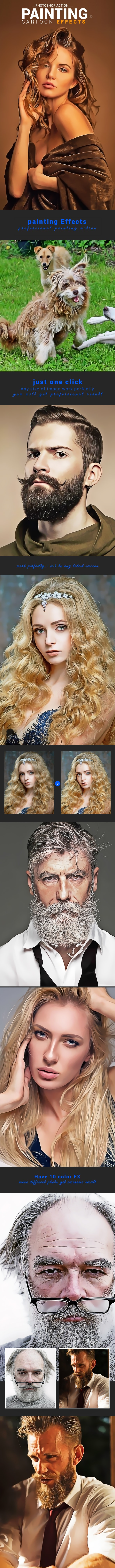 Painting & Cartoon Effects - Photo Effects Actions