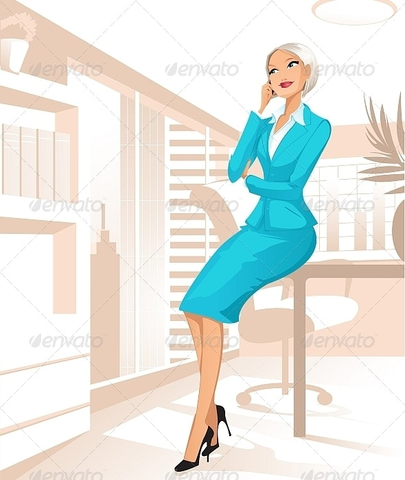 Businesswoman at Office - People Characters