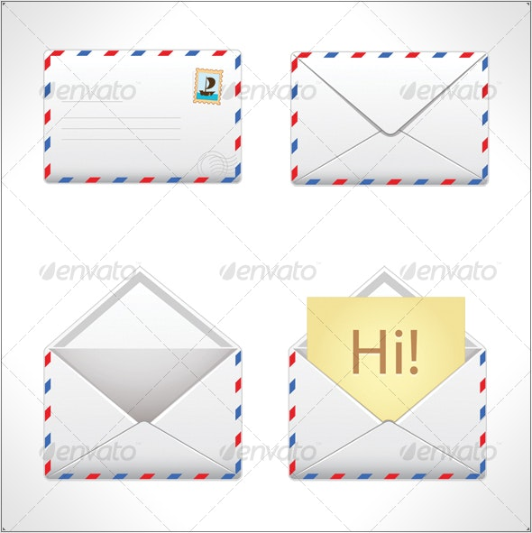 Mail icons - Man-made Objects Objects