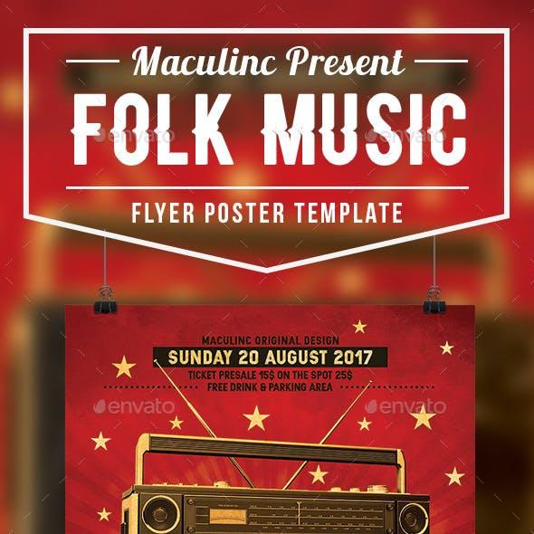 Folk Music Flyer/Poster Vol.4