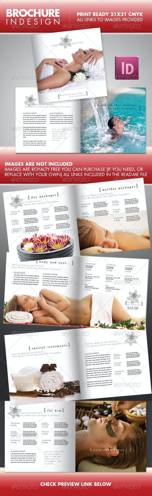 SPA Beauty Center Square Brochure - Corporate Brochures