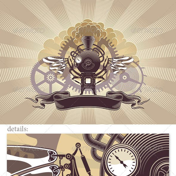 Steampunk Graphic Design