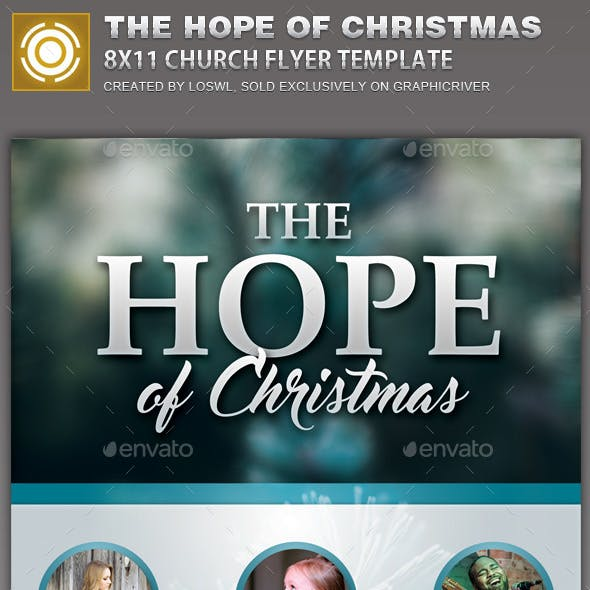 The Hope of Christmas Church Flyer Template