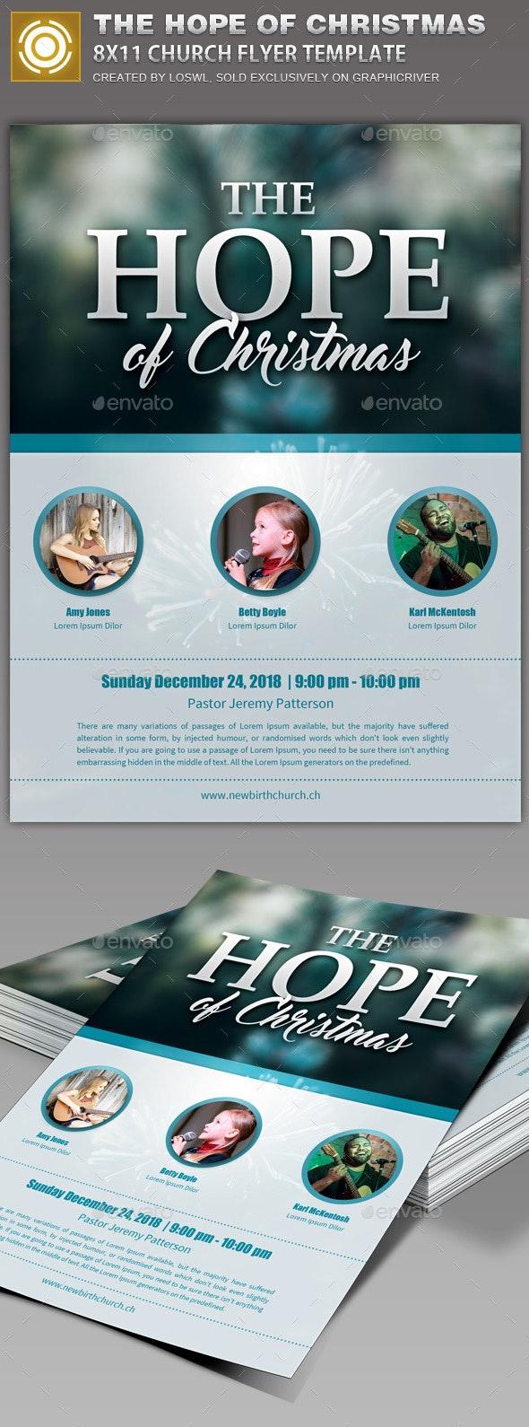 The Hope of Christmas Church Flyer Template - Church Flyers