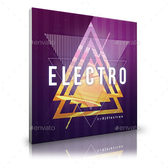 Electro - Digital Release Music Cover Template