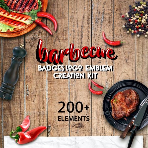 Logo Creator Kit - Barbecue