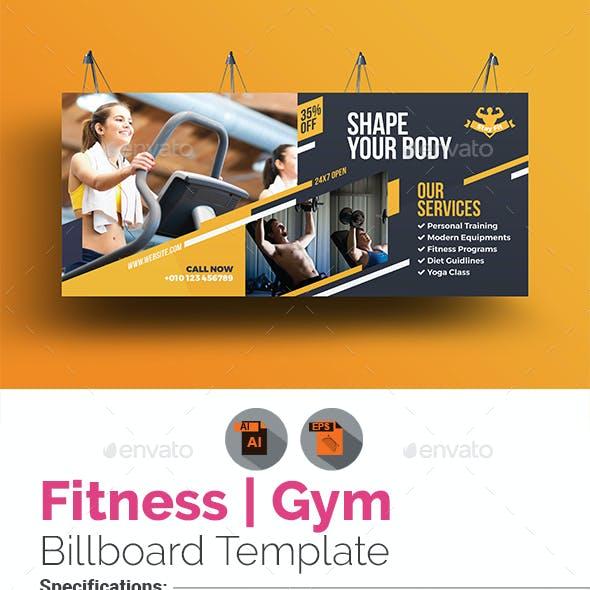 Fitness Billboard Template