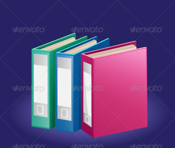 Colorful Folders - Man-made Objects Objects