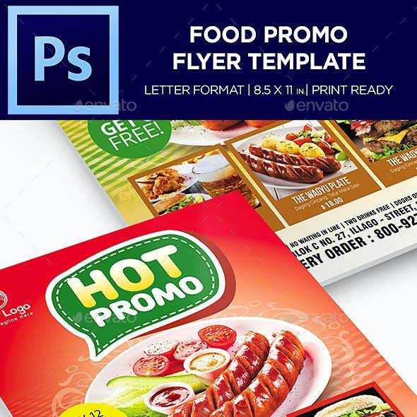 Food Menu Flyer - Restaurant Menu Template