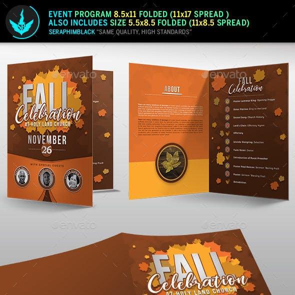 Fall Celebration Church Program Template