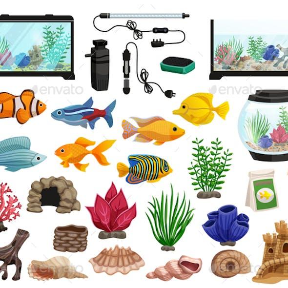 Aquarium Fishes Set