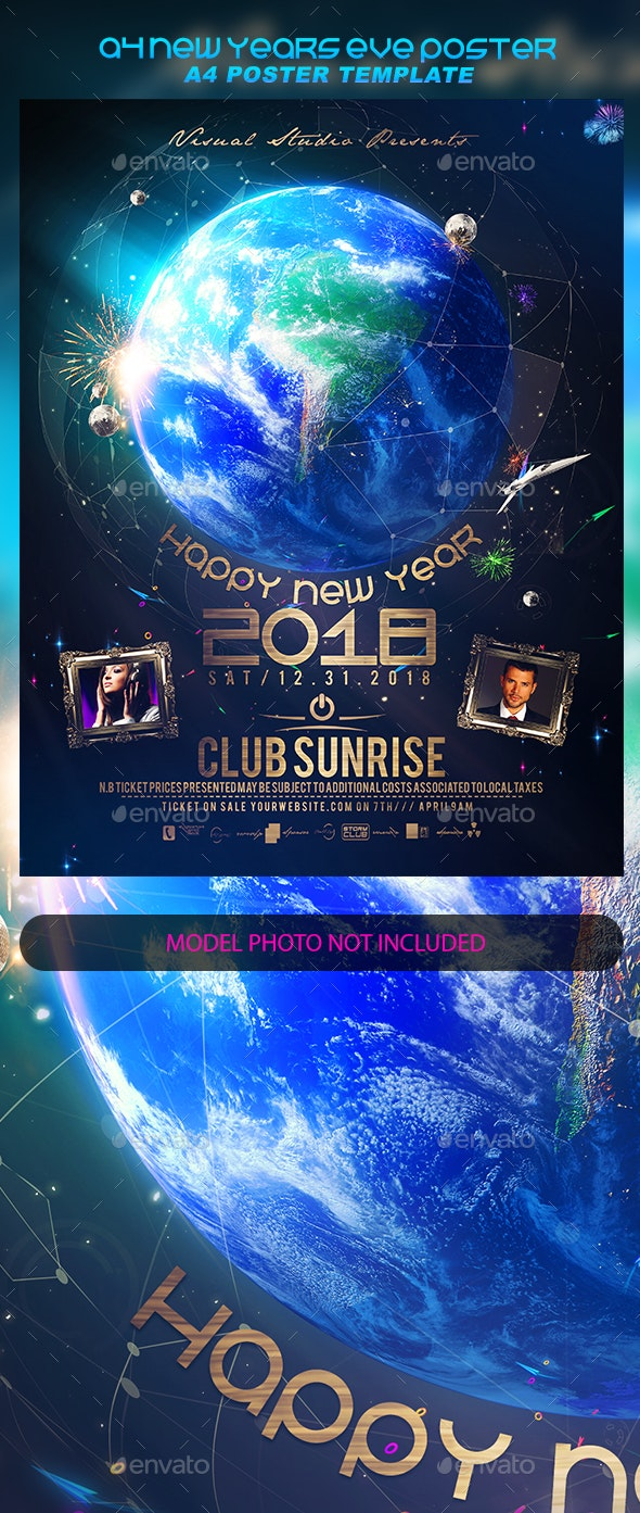 A4 New Years Eve Poster - Events Flyers