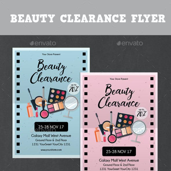 Beauty Clearance Flyer