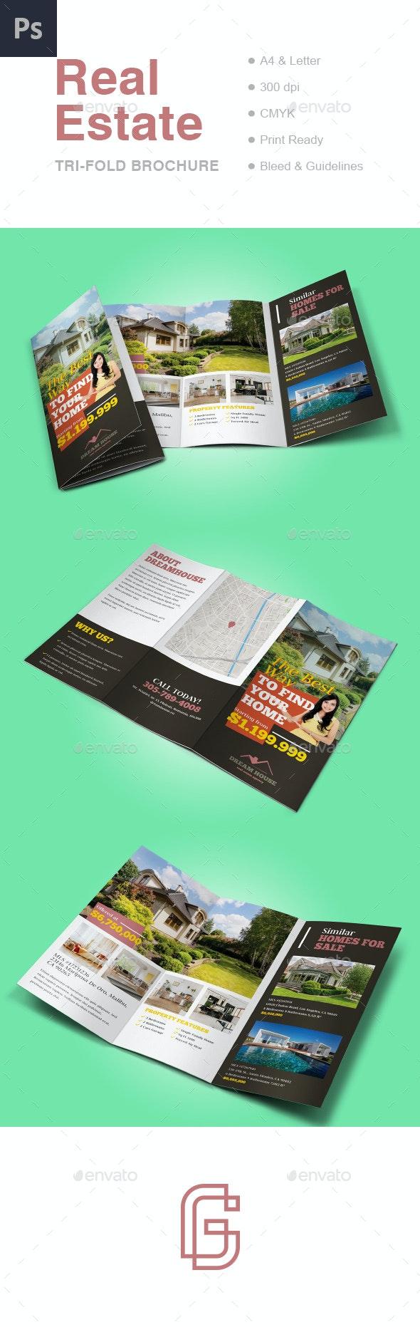 Real Estate Tri-fold Brochure Template - Informational Brochures