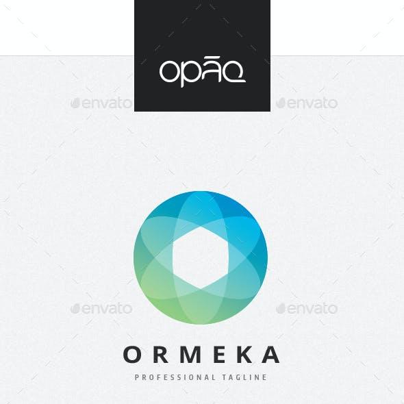 Orbital O Letter Logo
