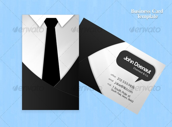 Shirt N Tie Business Card - Creative Business Cards