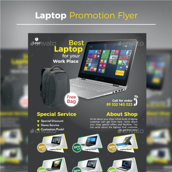 Laptop Promotion Flyer