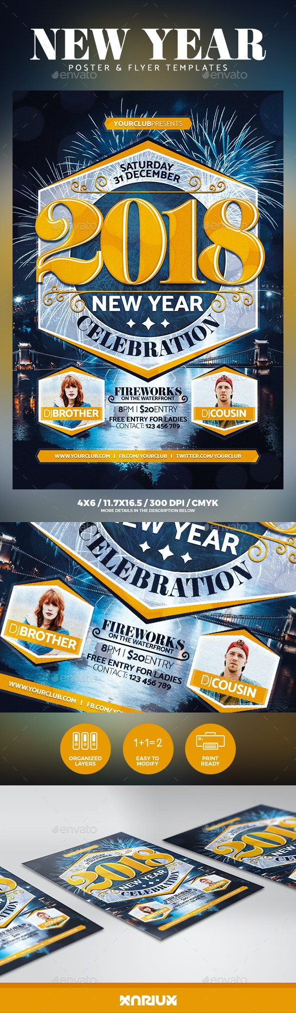 New Year Party Flyer & Poster - Events Flyers