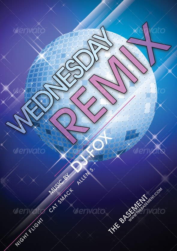 Sparkling Disco Ball Poster - Clubs & Parties Events