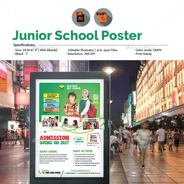 Junior School Promotion Poster