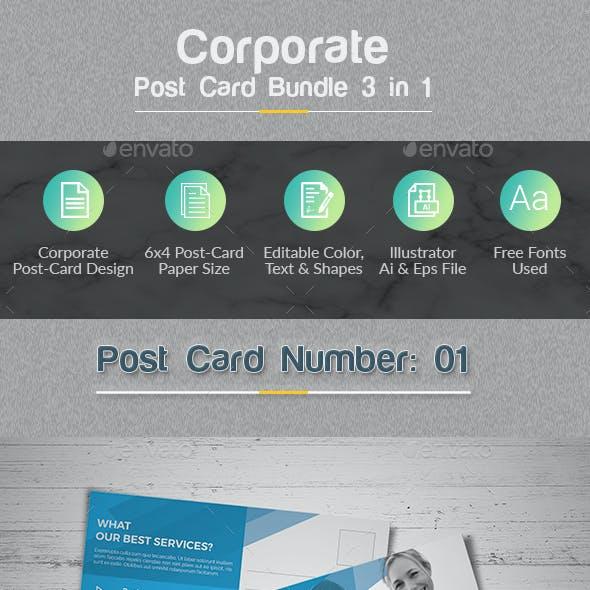 Post Card Bundle 3 in 1