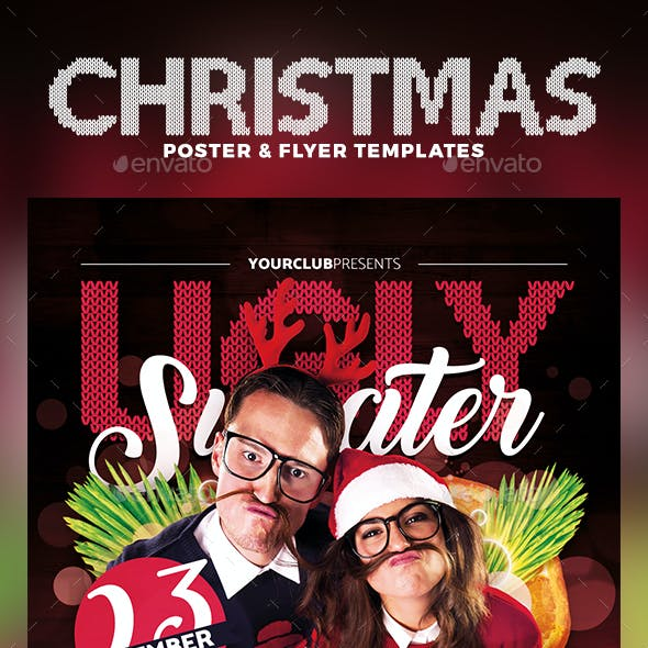 Ugly Sweater Party Flyer & Poster