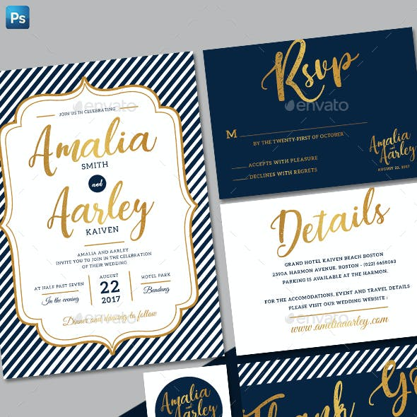 Line Wedding Invitation