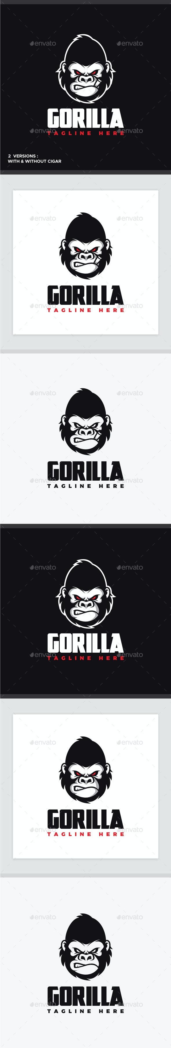 Angry Gorilla Logo - Animals Logo Templates