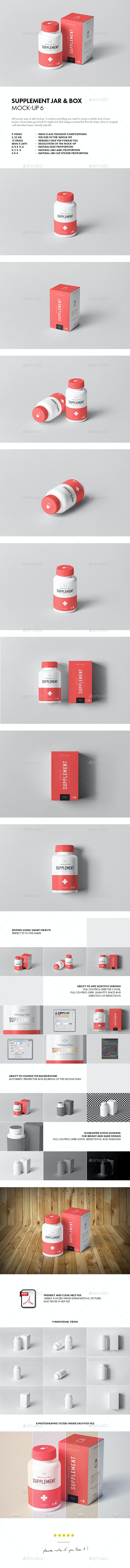 Supplement Jar & Box Mock-up 6 - Miscellaneous Packaging