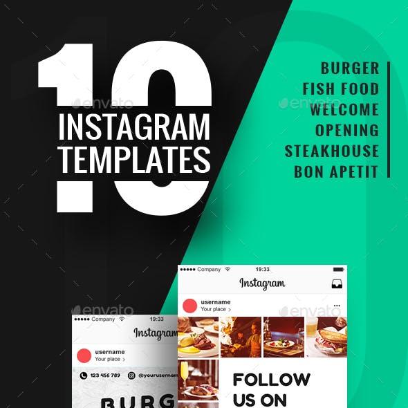 10 Instagram Templates for Restaurant