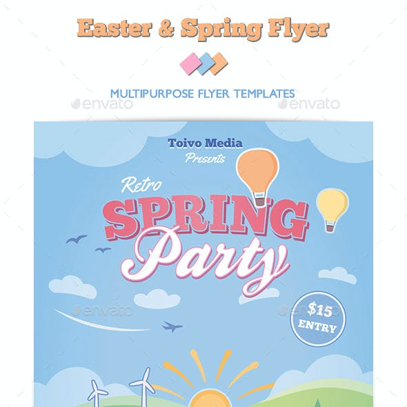 Easter and Spring Flyer