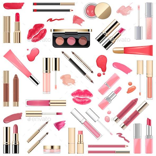 Vector Lips Makeup Cosmetics