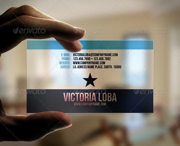 Unusual Transparent Business Card - Creative Business Cards