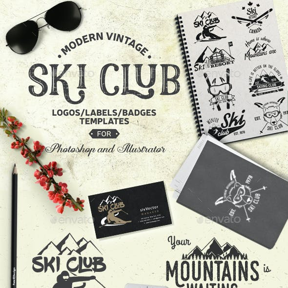 Ski Club Retro Badge