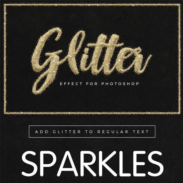 Universal Glitter Effect Photoshop Toolkit
