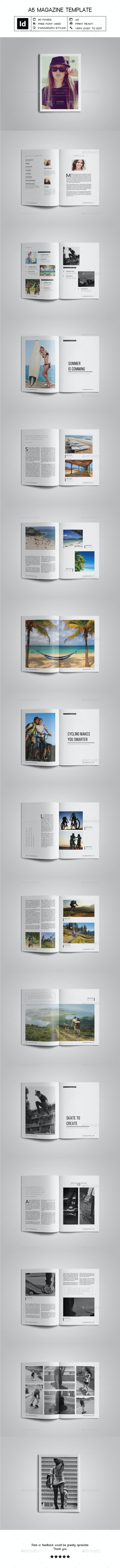 A5 Simple & Clean Magazine Template