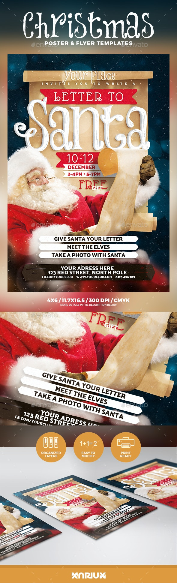 Letter to Santa Flyer & Poster - Holidays Events