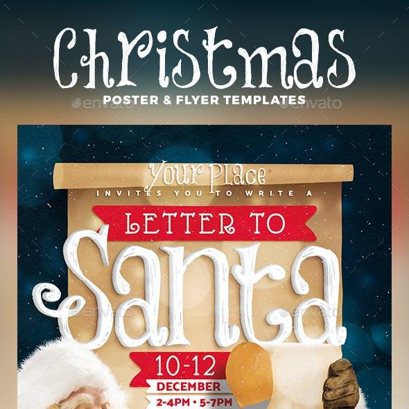 Letter to Santa Flyer & Poster