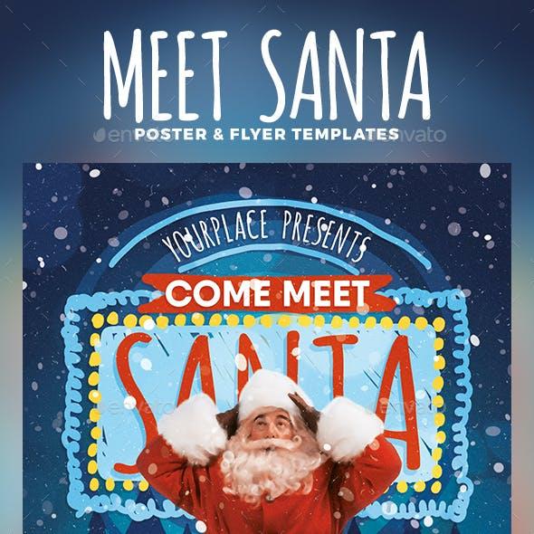 Meet Santa Flyer & Poster