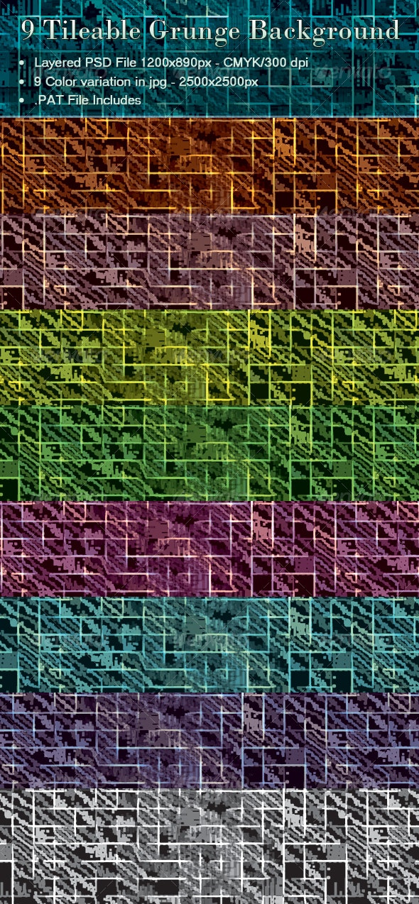 Textured background in 9 Color Variation - Miscellaneous Textures