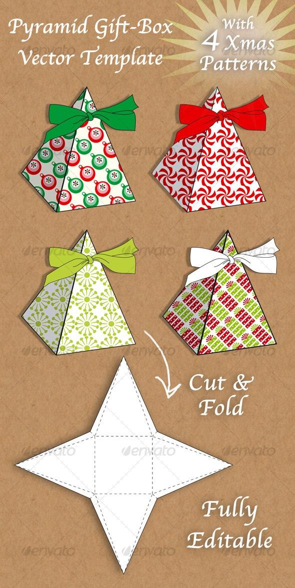 Christmas pyramid gift box - Christmas Seasons/Holidays